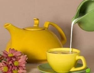 зеленый чай с добавлением молока