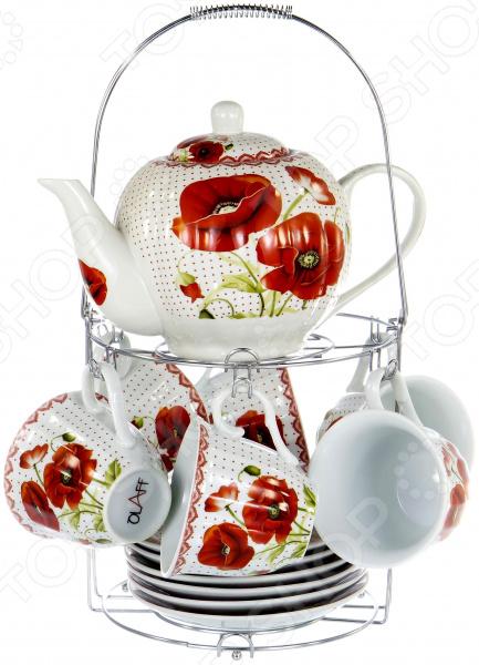 Набор чайный OLAFF METAL STAND CM-F13MS-020