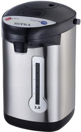 Термопот Supra TPS-3013 900 Вт серебристый чёрный 5 л металл/пластик