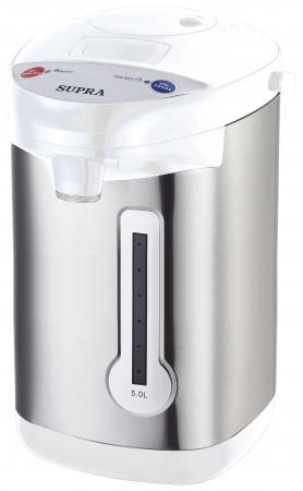 Термопот Supra TPS-3013 900 Вт серебристый белый 5 л нержавеющая сталь