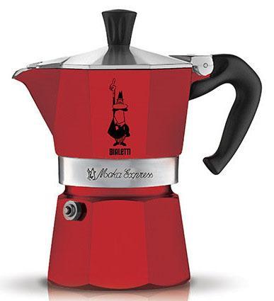 Кофеварка гейзерная Bialetti Moka Express Rossa 6 порций алюминий 4943