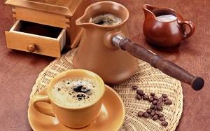 кофе в турке с молоком