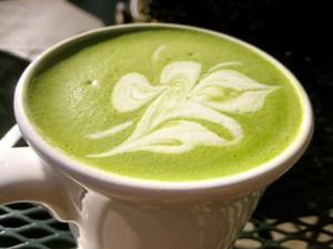 Зеленый молочный чай